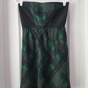 Gianni Bini green and black plaid dress sz 0